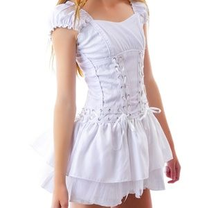 White corset dress by Tripp